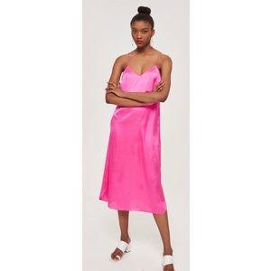 Topshop Pink Satin Slipdress